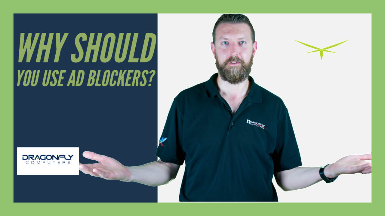 screenshot of man with hands out asking why should use ad blockers